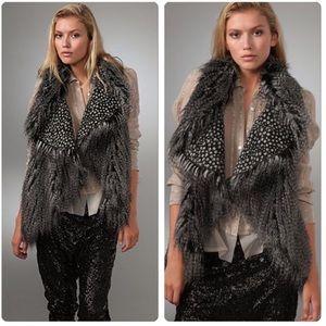 Alice + Olivia • Flutter Faux Fur Shawl Vest